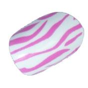 Chix Nails Nail Wraps Pink White Zebra Animal Print Fingers Toes Vinyl Foils Beauty Trendy Style