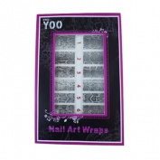 16x Nail Art Wraps Sticker Nail Patch Foils Decoration - Snakeskin Design