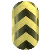 Minx Nail Wraps | Minx Professional For Marian Newman - Chevrons Gold/Matte Gold