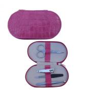 Quality Manicure Set in Bright Pink Case by Mele