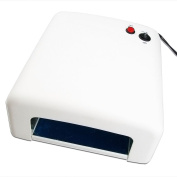 BEIYI Pearl White 36W UV Lamp Light Gel Curing Nail Dryer + 4 x 9W Bulbs