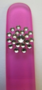 The Edge Nails Pink Crystal Nail File and Pink Case