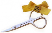 ELTRA GLOBAL Stainless Steel Curved Blade 9 cm Manicure Scissors.