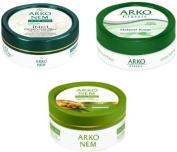 Arko Skin Care Creams 3 pack . Arko Classic 150ml,Arko Nem Pearl Touch 100 ml,Arko Nem Olive Oil 150ml