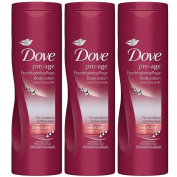 3 x Dove Body Lotion each 250ml Pro-Age Deep Care Complex for Normal to Dry Skin