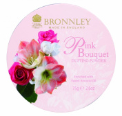 Bronnley Pink Bouquet 75g80ml Dusting Powder