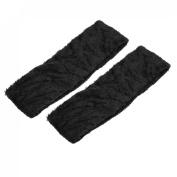 Bathing Face Washing Elastic Scarf Head Band Headband Black 2 Pcs