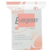 Evergreen Rolled Edge Purified Cotton Pads White Facial Cosmetic Makeup Clean Baby Personal Care 100 sheets.