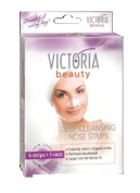 Victoria Beauty DEEP CLEANSING NOSE STRIPS * Instantly Cleans Clogged Pores * Removes Blackheads * Larger Size for Better Fit * 6 strips