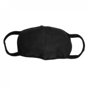 White Lining Solid Black Ear Loop Face Mouth Mask Muffle