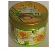 Beauty Rose Scrub Face Mask with Natural Oils of Rose, Argan and Bamboo