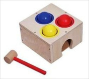 CHILDS WOODEN BENCH HAMMERING BALL GAME