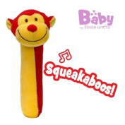 Monkey Squeakaboo Squeaker and Rattle Toy