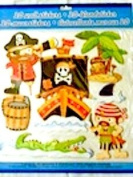 3D PIRATE 7 x Wall Stickers for a Boys Bedroom - Create Your Own Fantastic Display