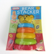 Bear Stacking Rings Toy With Rocking Base & Bright Coloured Rings