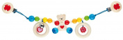 Heimess Pram Chain Bear with Heart with Clips