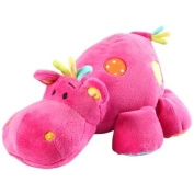 Pink Hippo Soft Toy -- Cuddly Animal for Baby Girl