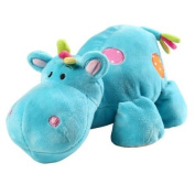 Blue Hippo Soft Toy -- Cuddly Animal for Baby Boy