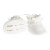 Claydough white decorative Baby Booties - 90x70mm
