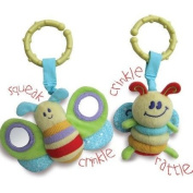 Little Bird Told Me - Rattle and Squeak Set - Blue