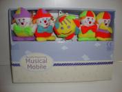 Beautiful Beginnings Musical Cot Mobile in Clowns Design