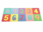 Large Soft Foam Playmat Number Puzzle Play Mat Jigsaw 10pcs