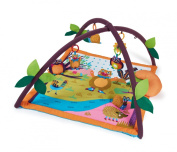 Little Helper Oops Baby Gym and Play Mat with Forest Animals Includes Owl and Bear