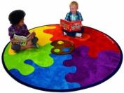Kit For Kids Decorative Colour Pallet Circular Carpet