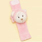 Russ Baby Snuggle Up Girls Pink Wrist-strap Rattle Bear
