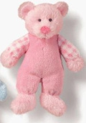 pink bear rattle soft toy baby gift