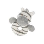 Zooma Zebra soft plush babys ring rattle