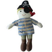 Powell Craft Soft Pirate Rag Doll Baby Rattle Toy - Suitable for all ages and a lovely gift