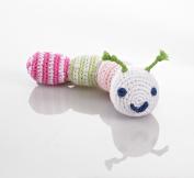 Pebble caterpillar rattle - pink