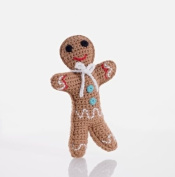 Pebble Hand Made Gingerbread Man Rattle