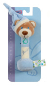 Gipsy Pomme 070159 Soft Toy Bear with Rattle 17 cm Blue