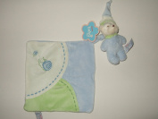 Comfy Bear Comforter in Blue - baby's comforter 'blankie' with detachable squeaking teddy bear toy