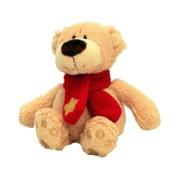 25cm Christmas Buddy Bear with Scarf