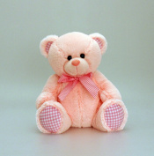 35 cm Nursery Gingham Bear Pink