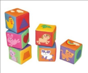 Soft blocks mix and match activity cubes - variety of themed fun pictures - Will arrive boxed