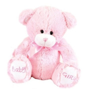Cute 25cm 'Baby Girl' soft bear by Baby Posh Paws pink