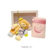 Blanket & Cuddly toy - Teddy Bear with Blanket Wrap Cream