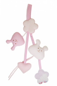 Trousselier Pink Liberty Fabric Hanging Pram Toy
