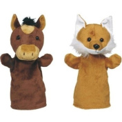 Set of four soft hand puppets