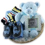 Boy's Beautiful New Baby Gift Basket