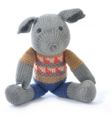ChunkiChilli Organic Cotton Pig Toy - Fairisle