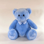 Luxury Baby blue sitting bear 38cm boy blue
