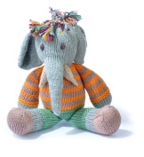 ChunkiChilli Organic Cotton Elephant Toy - Orange Stripe