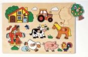 Wooden Lift Out Farm Puzzle