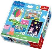 Trefl 4-in-1 Puzzle Peppa's Adventures Peppa Pig