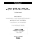 Proposed Revisions to the Common Rule